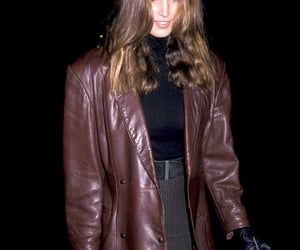 cindy crawford, clothes, and leather jacket image