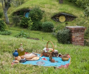 middle earth, picnic, and cottagecore image