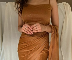 dress, style, and brown outfit image