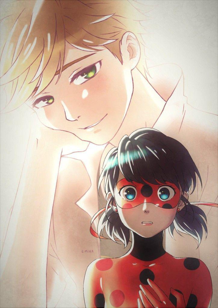 Adrien, ladybug, and desenho image