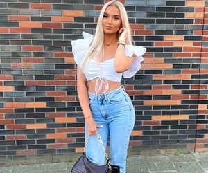 blonde, girl, and ootd image