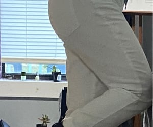 outfit, white jeans, and school image