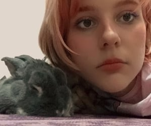 bunny, sapphic, and dyed hair image