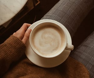autumn, beauty, and cafe image