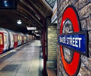 baker street, underground station, and london-uk image