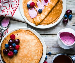 crepes, fruit, and foodporn image
