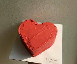 red, cake, and heart image