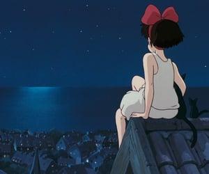 anime, studio ghibli, and night image