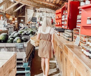 aesthetic, blonde, and barn image