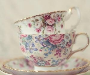 vintage, floral, and pastel image