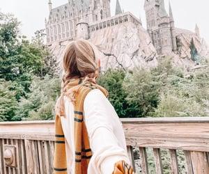 blonde, universal studios, and hogwarts castle image