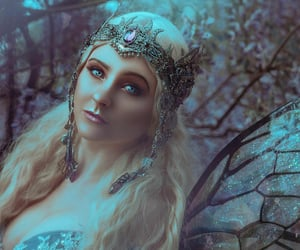art, crown, and forest image