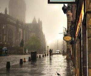 rainy day and dark aesthetic image