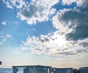 beach, beautiful, and blue sky image