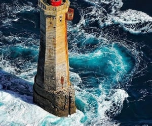 beautiful, lighthouse, and ocean image