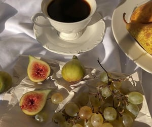 breakfast, grapes, and pears image