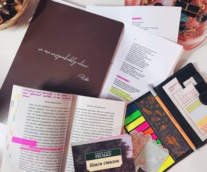 book, notes, and bookmark image