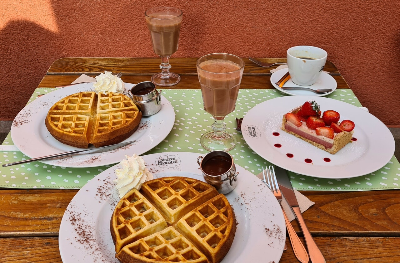 breakfast, french, and waffle image