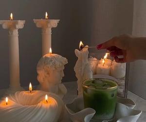 autumn, matcha, and candle image