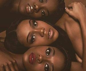 black beauty, sorority, and makeup for black women image