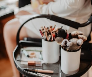 Brushes, glam, and makeup image