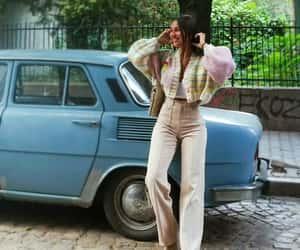 etsy, oversized cardigan, and preppy style image