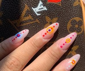 nail art, aura nails, and nails image
