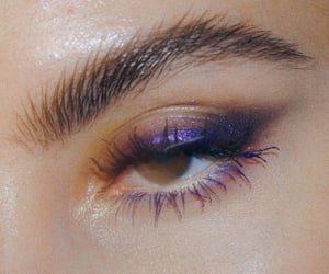 purple, eyes, and makeup image