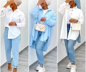 light blue hijab blouse image