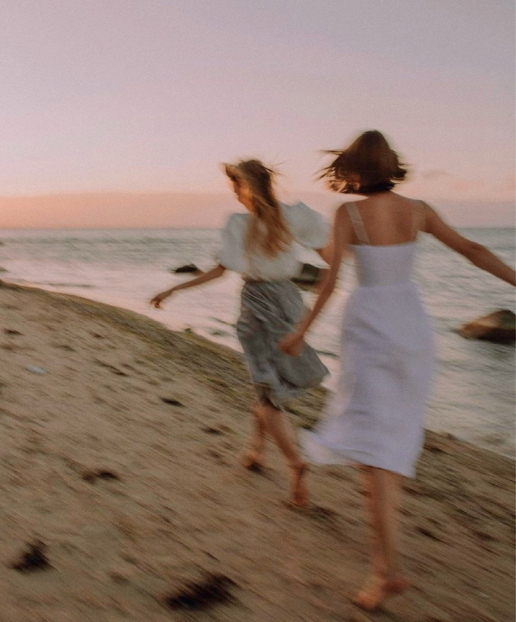 beach, girl, and friendship image