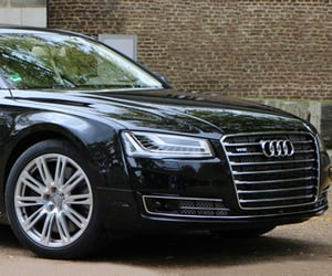 infotainment system, audi a8, and climate control image