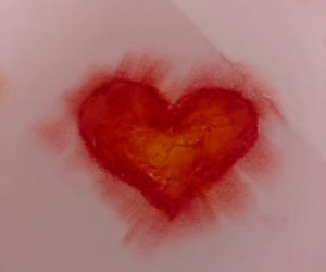 paint, heart, and red image