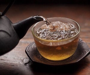 tea, aesthetic, and glass image