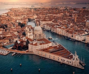 italy and top view of venice image
