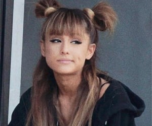 dimple, hairstyle, and ariana grande image