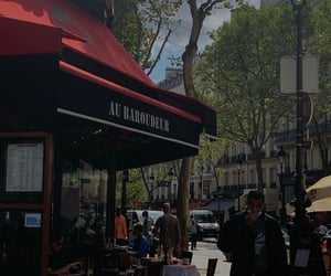 aesthetic, france, and pub image