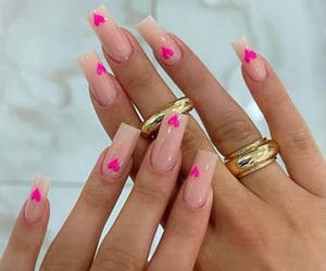 nails, heart, and jewelry image
