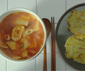 asia, korean food, and korean movie image