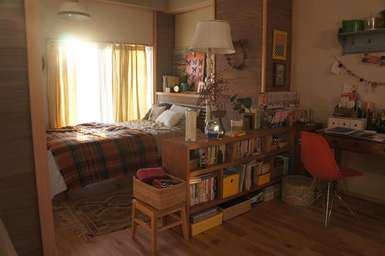 bedroom, shelves, and casas image