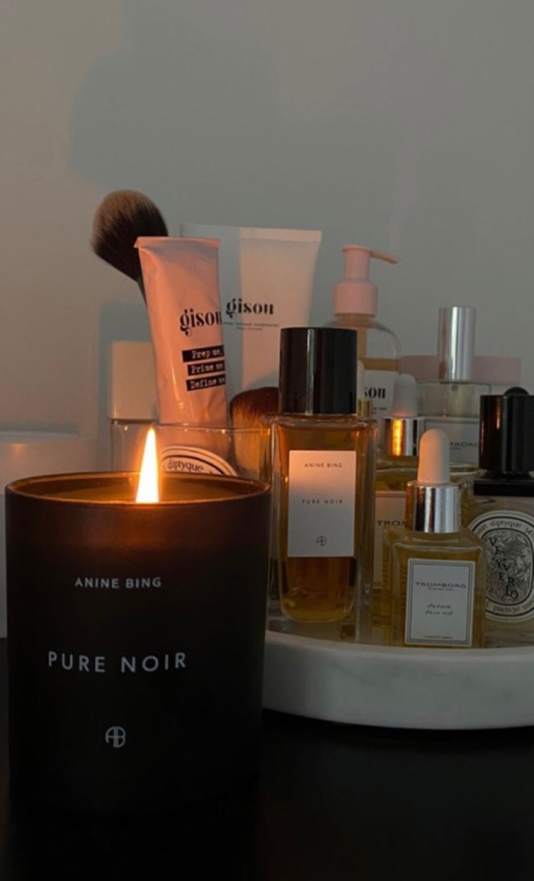 beauty, candle, and products image
