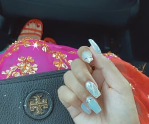 nails, wedding season, and desi image