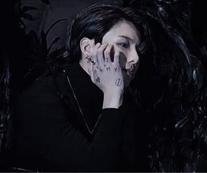 black, korean, and ángel image