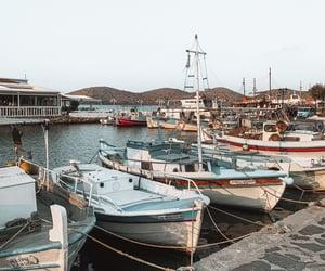 boats, crete, and Island image