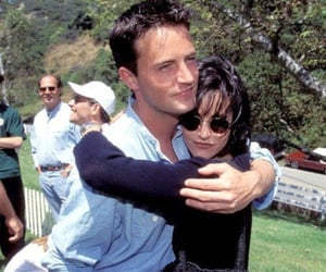 chandler bing, Matthew Perry, and courtney cox image