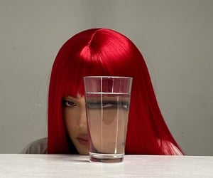 art, grunge, and red hair image