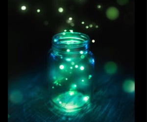 childhood, fireflies, and glowing image