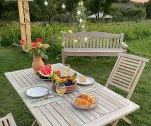 garden, nature, and picnic image