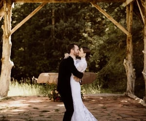 lily collins, couple, and wedding image
