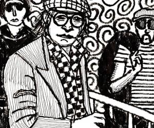 art, camera, and caricature image