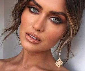 girl, make up, and glow image